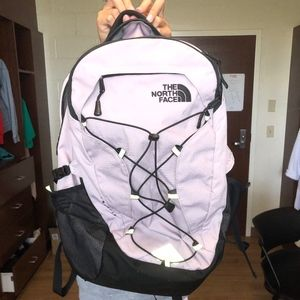 Light Purple North Face Backpack
